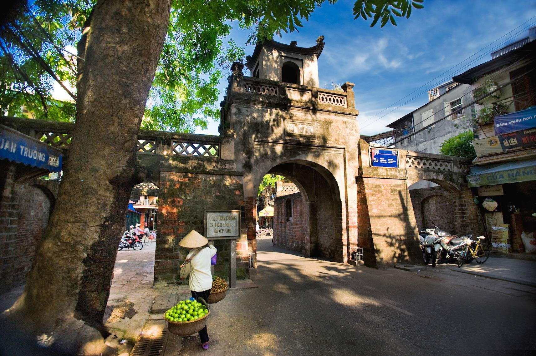 O Quan Chuong gate at Hanoi
